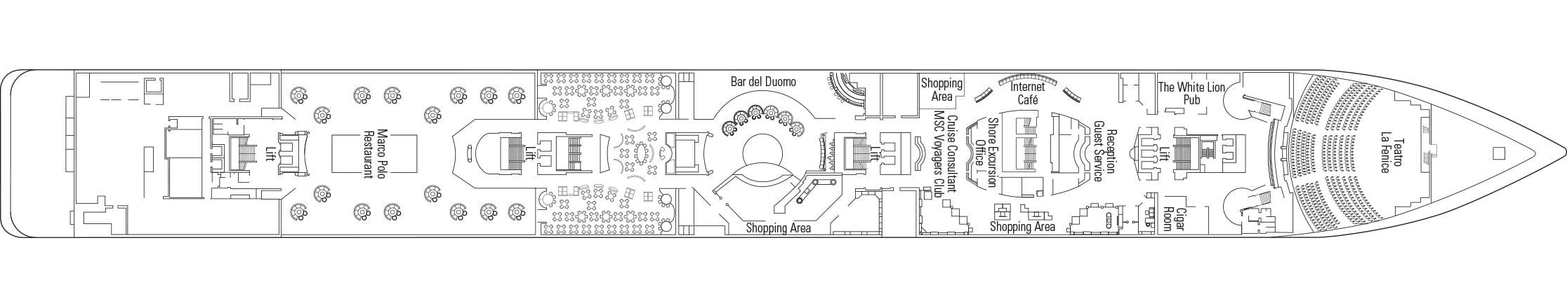 MSC Armonia Deckplan