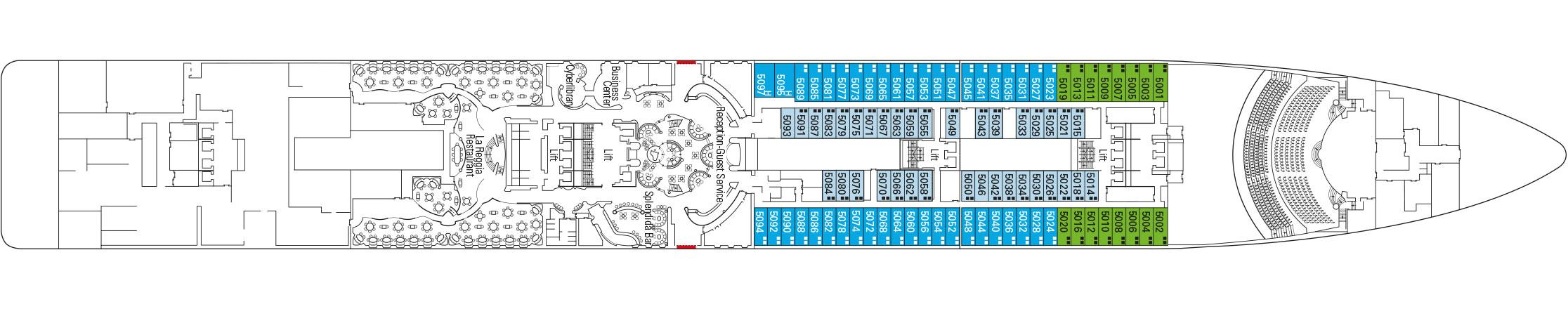 MSC Splendida Deckplan