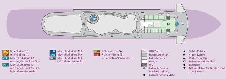 AIDAaura Deck 11