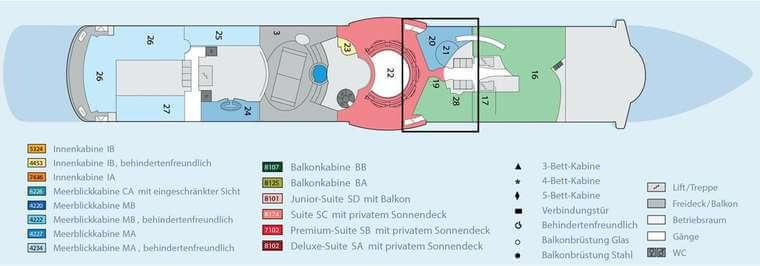 AIDAbella Deck 11