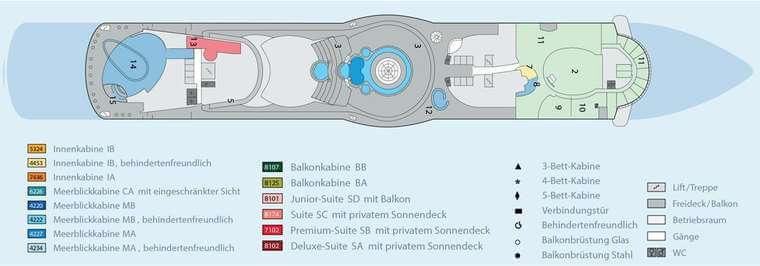 AIDAbella Deck 12
