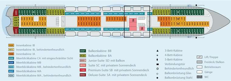 AIDAbella Deck 6