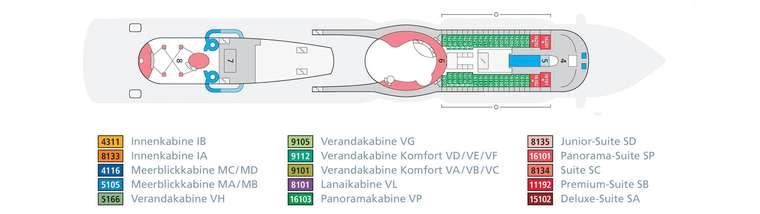 AIDAprima Deck 16
