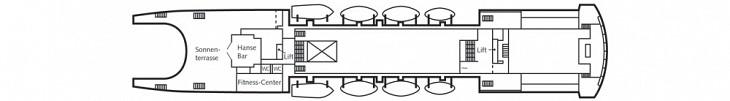 Brücken Deck MS Astor