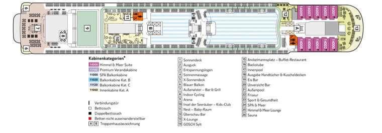 Mein Schiff 3 Deck 14