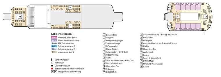 Mein Schiff 3 Deck 15