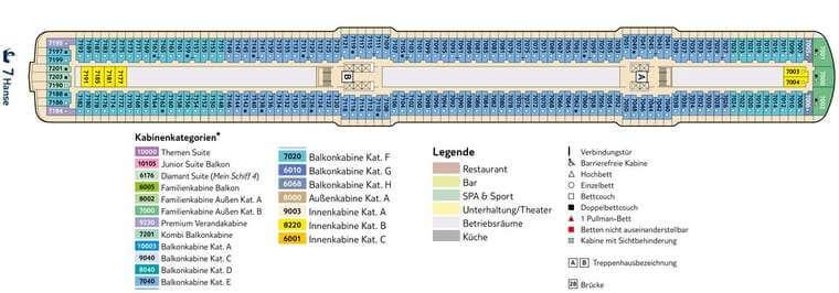 Mein Schiff 5 Deck 7