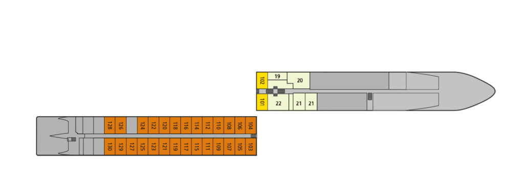 A-Rosa Silva Deckplan