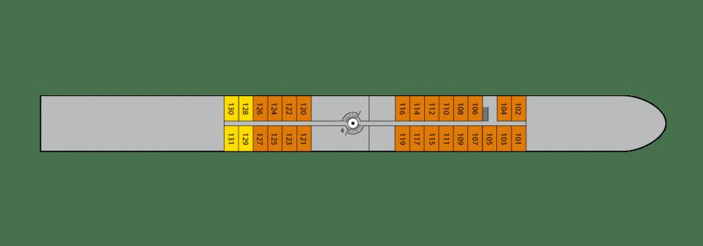 A-Rosa Aqua Deckplan