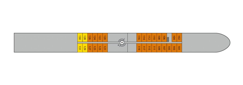 A-Rosa Brava Deckplan