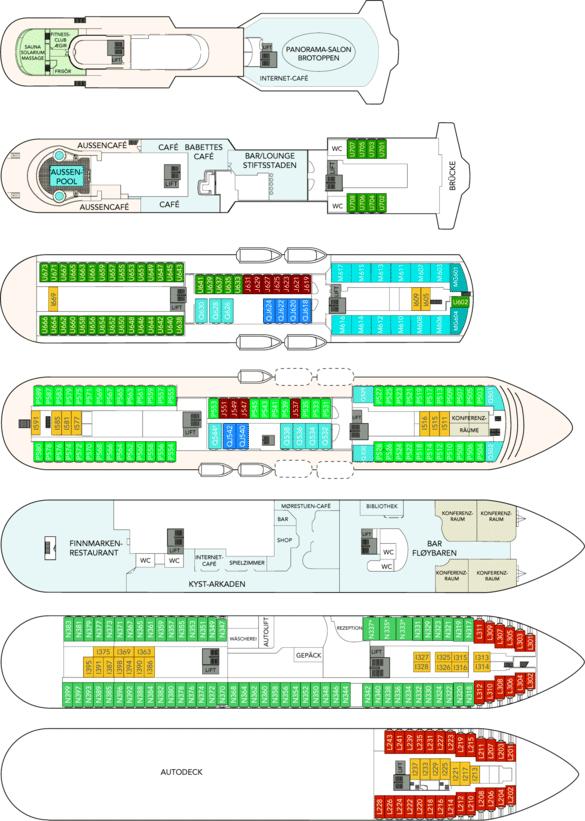 MS Finnmarken Deckplan