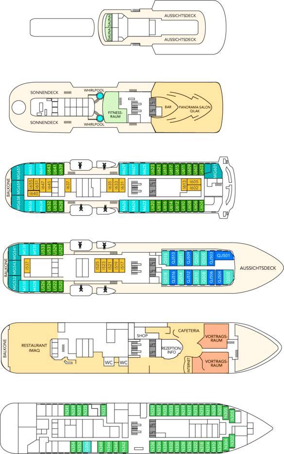 MS Fram Deckplan