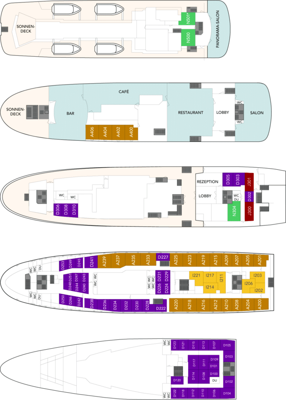 MS Lofoten Deckplan
