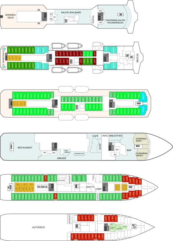 MS Nordkapp Deckplan