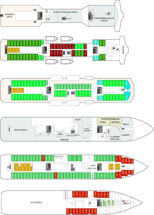 MS Nordlys Deckplan