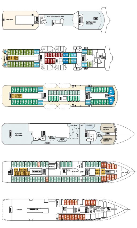 MS Nordnorge Deckplan