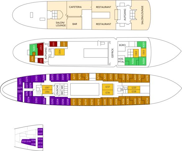 MS Nordstjernen Deckplan