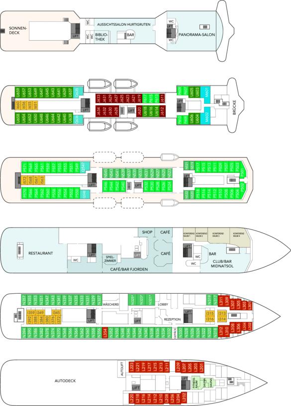 MS Polarlys Deckplan
