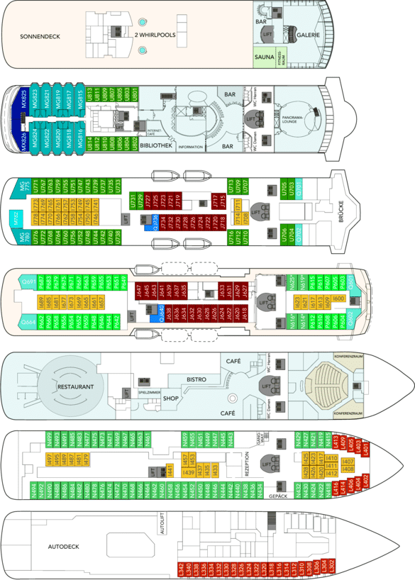 Deckplan MS Trollfjord