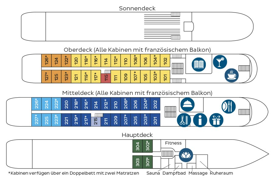 MS Heidelberg Deckplan