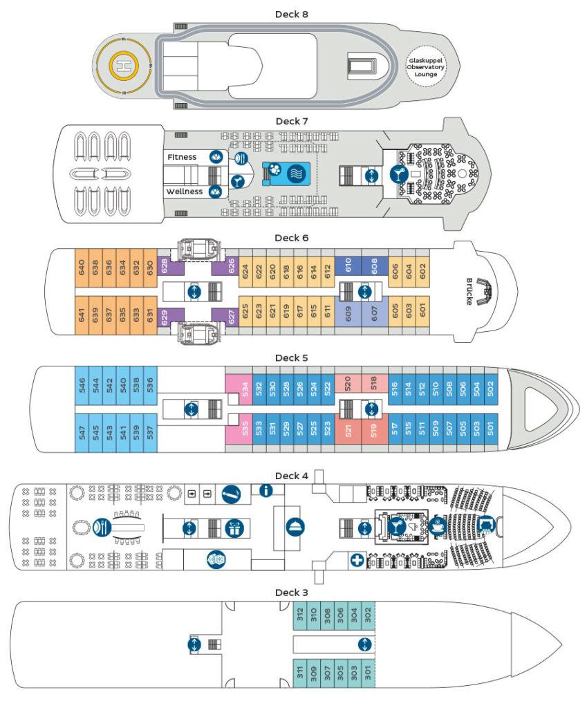 World Explorer Deckplan