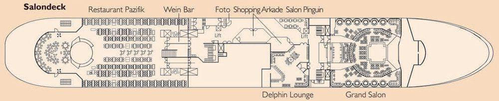 Salondeck MS Delphin
