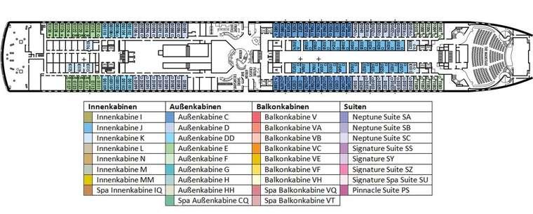 MS Eurodam Deck 1