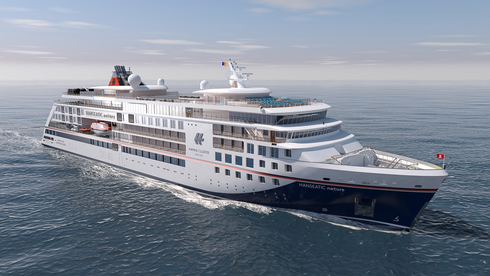 Hanseatic Nature an Hapag-Lloyd Cruises geliefert