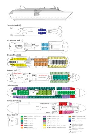 Deckplan MS Ocean Majesty