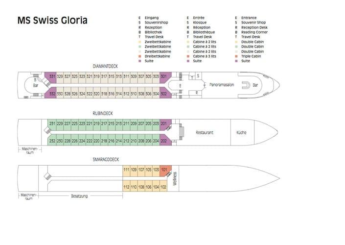 MS Gloria Deckplan