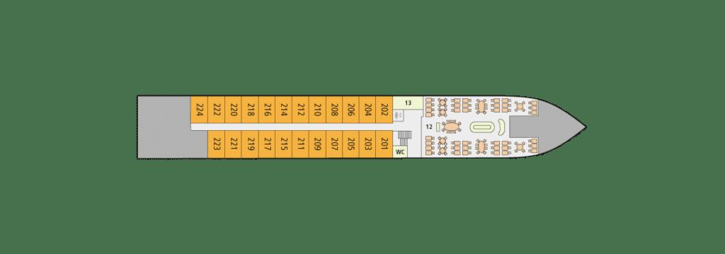 A-Rosa Alva Deckplan Deck 3