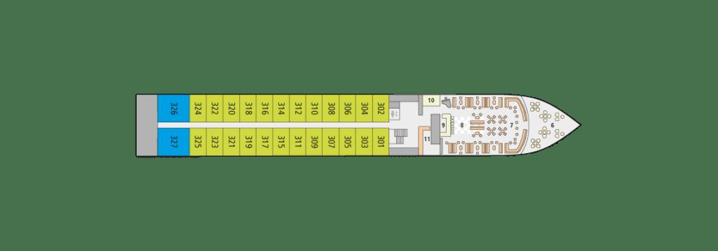 A-Rosa Alva Deckplan Deck 4