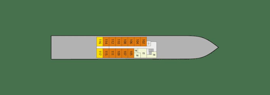 A-Rosa Alva Deckplan Deck 2