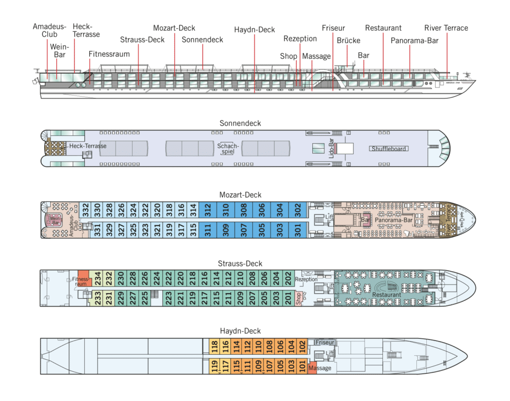 MS Amadeus Star Deckplan