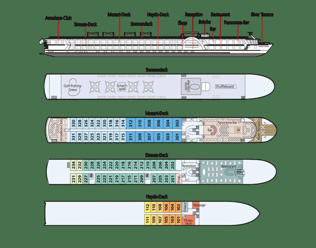 MS Amadeus Diamond Deckplan