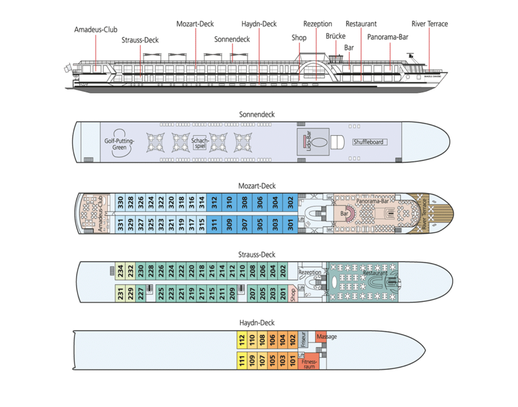 MS Amadeus Diamond Deckplan