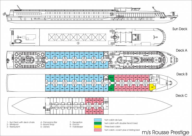 MS Rousse Prestige Deckplan