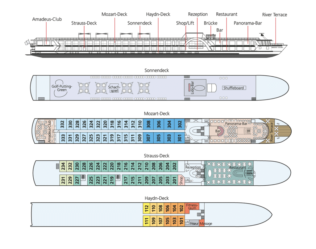 MS Amadeus Elegant Deckplan