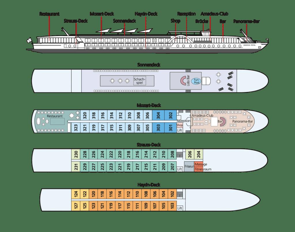 MS Amadeus Royal Deckplan