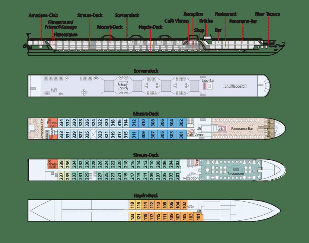 MS Amadeus Silver Deckplan