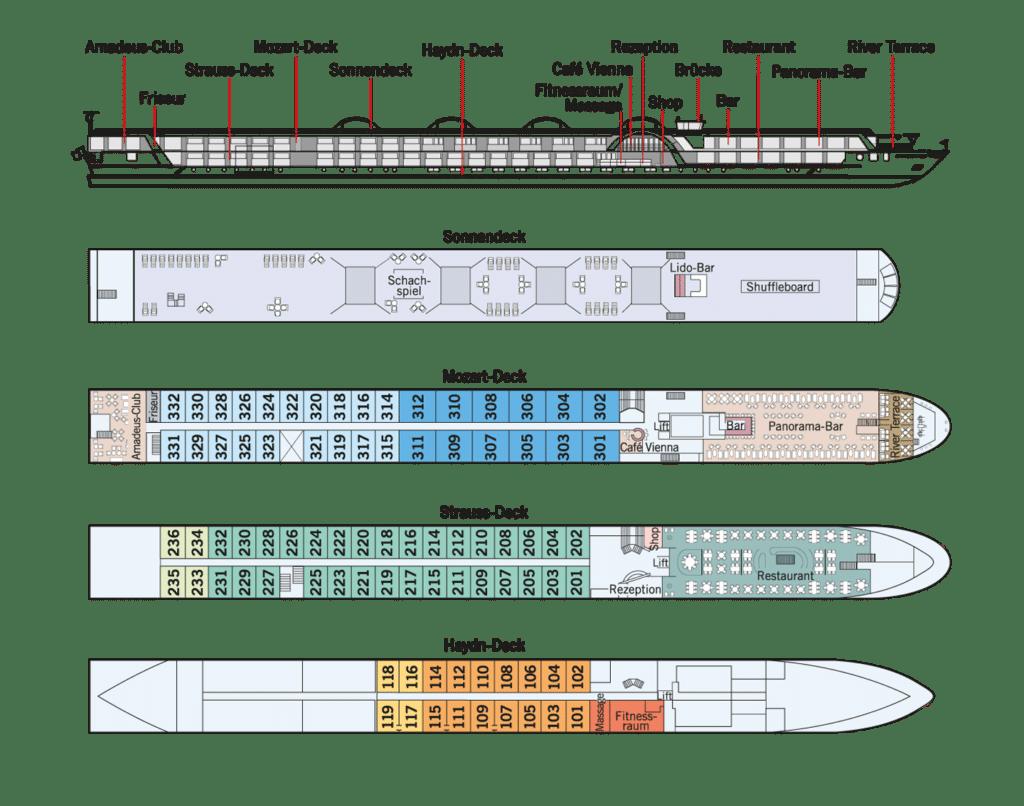 MS Amadeus Silver III Deckplan