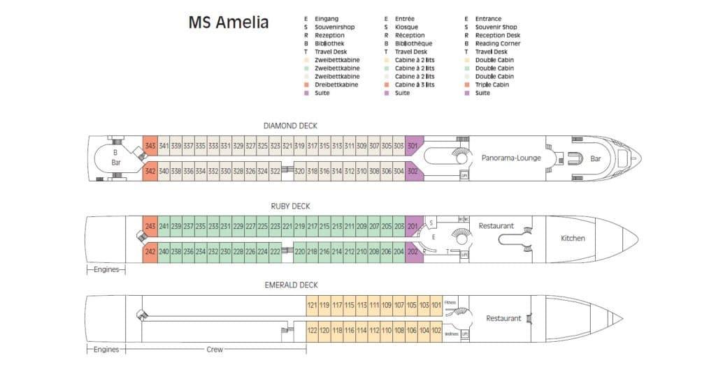 MS Amelia Deckplan