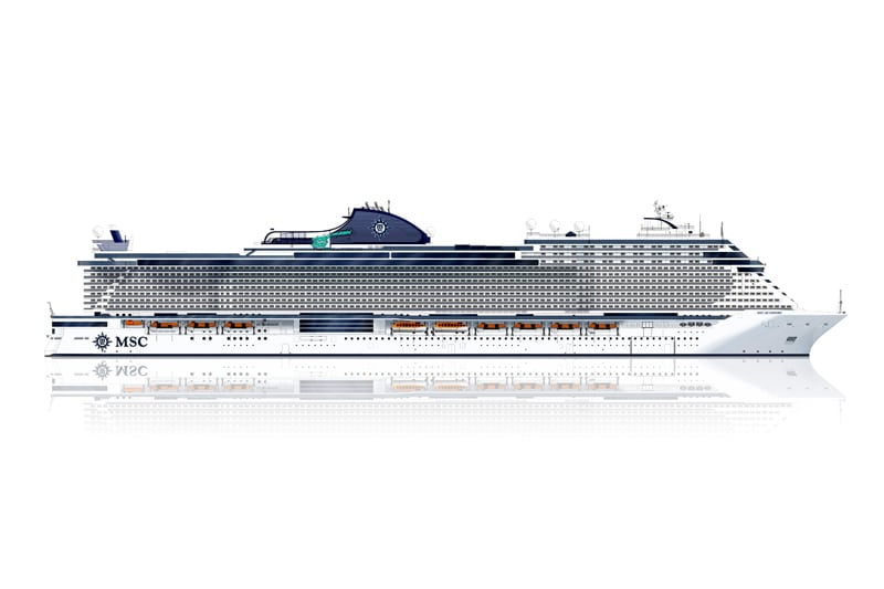 MSC Cruises und die Werft Chantiers de l'Atlantique feiern Meilenstein im Schiffsbau der LNG angetriebenen MSC World Europa