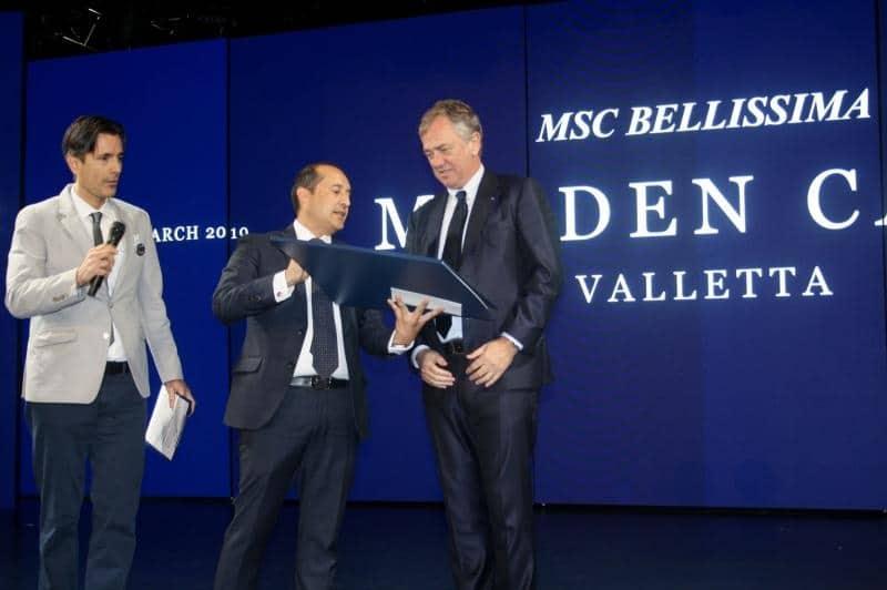 Valletta begrüßt die MSC Bellissima