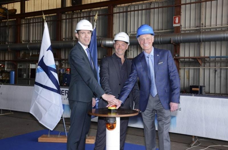 Erster Stahlschnitt für die 250-Millionen Dollar Plus-Initiative von Windstar Cruises