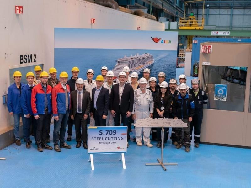 AIDA: Brennstart für zweites LNG-Schiff