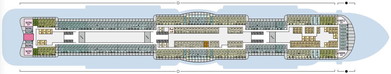 AIDAcosma Deck 14