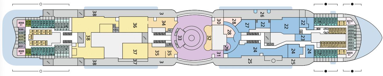 AIDAcosma Deck 8