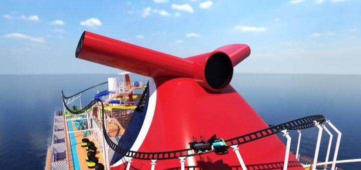 Die erste und schnellste Achterbahn auf See an Bord des Carnival Mardi Gras im Video