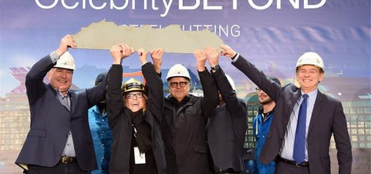 Celebrity Cruises feiert Stahlschnitt von Beyond the Edge